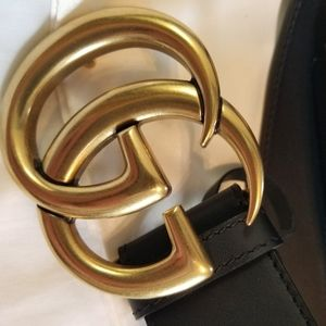 Other - 😘Authentic Men's Marmont Belt Black Leather Gold